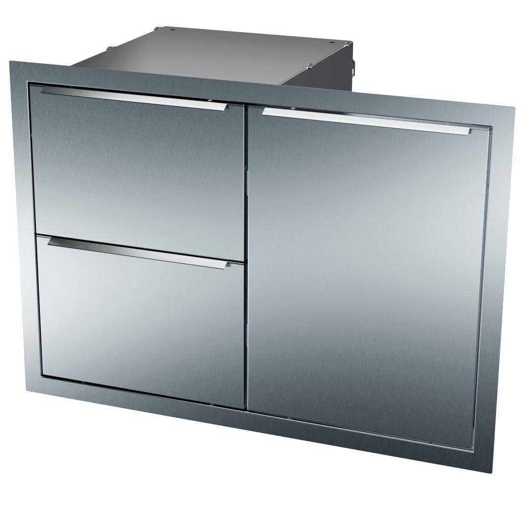 vivandio Tür-Schubladen-Kombinaton zum Einbauen in die Außenküche