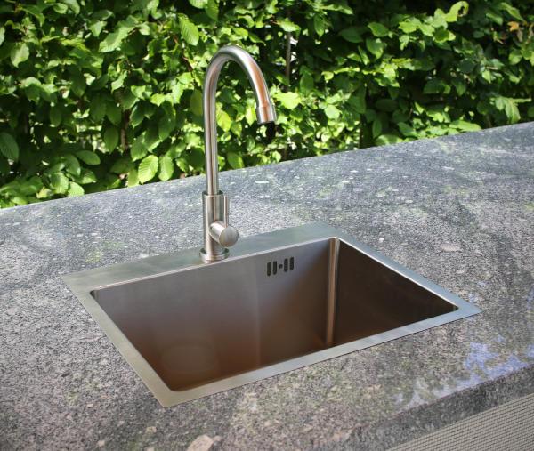 vivandio Outdoor Spüle mit Wasserhahn für die Outdoor Küche