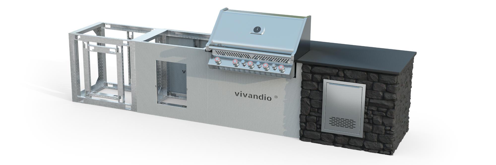 vivandio custom DIY System für die Outdoor Küche
